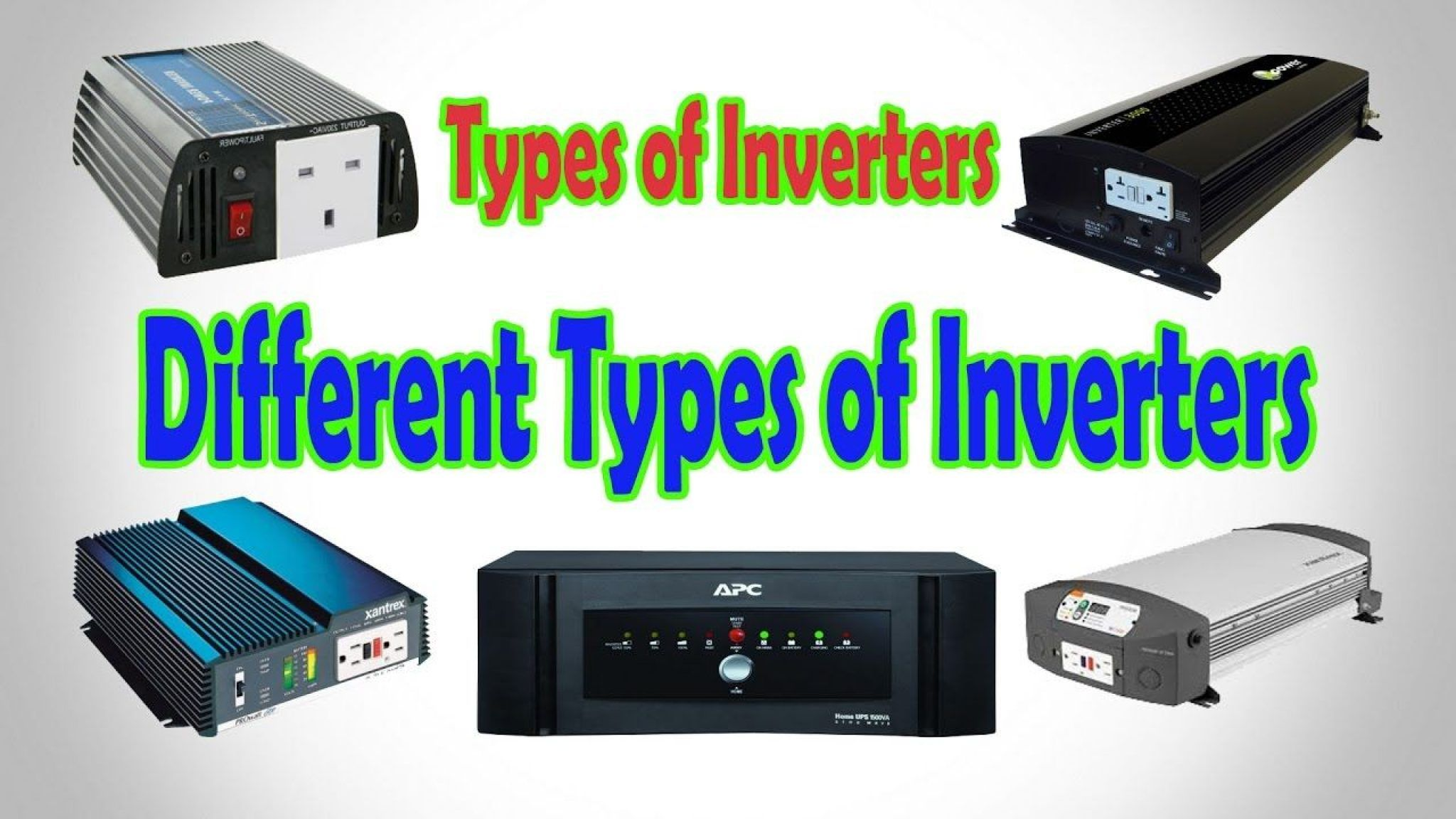 Types of Inverters & Their Applications